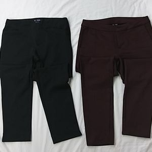 2 pairs of career style ankle pants size 4